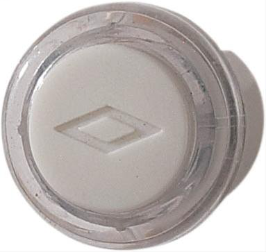 Unlighted Round Pushbutton, 13/16 diameter in Clear/White