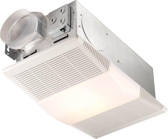 NUTONE Heater/Fan/Light, 1300W Heater, with 100W Incandescent Light, 70 CFM; Ventilation Fans