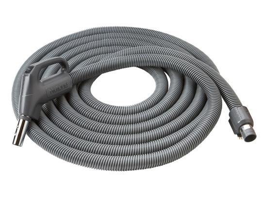 "Direct-Connect Crushproof hose, Central Vacs, 30 feet long x 1-3/8"" inner hose diameter in Dark Gray"