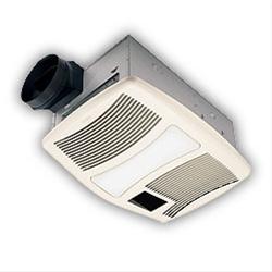 NUTONE Heater/Fan/Light, 1500W Heater, with 120W Incandescent Light, 110 CFM; Ventilation Fans