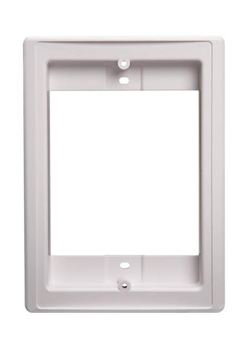Door Speaker Retrofit Frame, 4-7/8w x 6-5/8h, projects 1-9/16 off surface, in White
