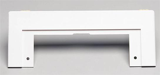 Trim Plate for VacPan™ for Central Vacs, 10-9/16 x 4h (adjustable), in White