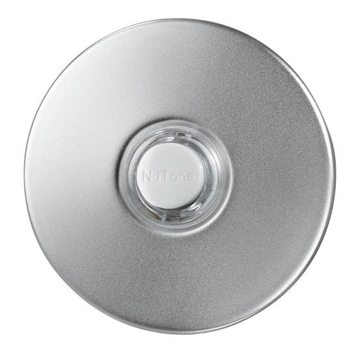 "Lighted Round Stucco Pushbutton, 2-1/2"" round in Satin Nickel"
