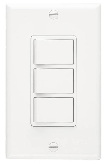 NUTONE Multi-Function Wall Control in White; Ventilation Fans