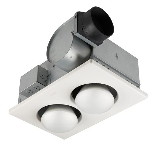 Broan 9427P 4.5 Amp 120 Volt 70 CFM 3.5 Sones 10-1/4 x 15-5/8 Inch White Polymeric Grille Ventilation Fan with Lamp