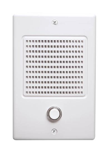 """Door Speakers for Intercoms, 4-3/16w x 6-5/16h x 1-3/8d, projects 1-9/16"""" from surface in White"""