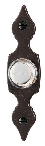 Lighted Flat Pushbutton, 7/8w x 3-9/16h in Oil-Rubbed Bronze