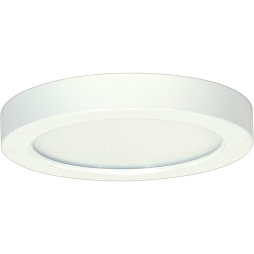 "Mayer-13.5 watt; 7"" Flush Mount LED Fixture; 3000K; Round Shape; White Finish; 120 volts-1"