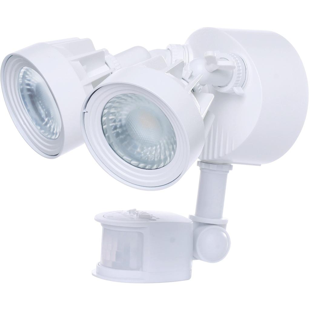 SATC 65/108 LED DUAL HEAD SECURITY LT WH M/S