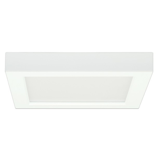 """Mayer-13.5 watt; 7"""" Flush Mount LED Fixture; 3000K; Square Shape; White Finish; 120 volts-1"""