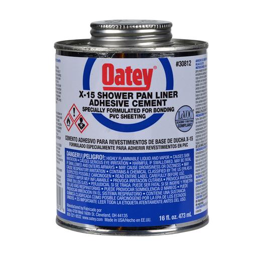 Oatey® 16 oz. LO-VOC X-15 PVC Solvent w/ dauber