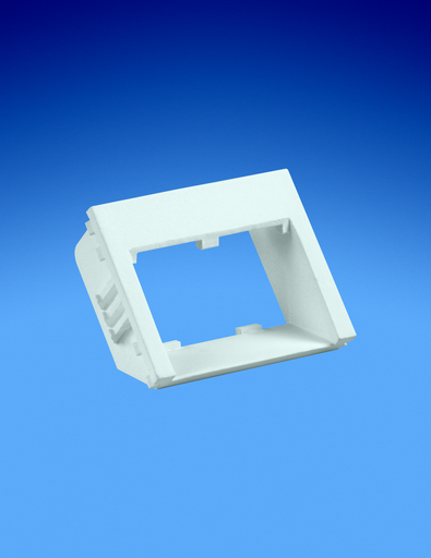 Mayer-Insert, 2 Port, 1/2 Size, Flat Recessed, Electric Ivory-1