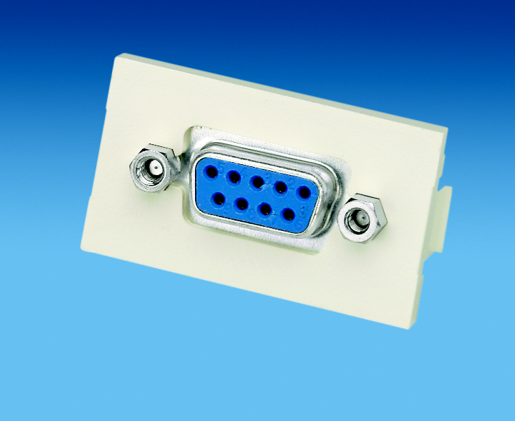 Industrial 9-Pin Female/Female D-Sub Coupler in 1/3-Size Insert