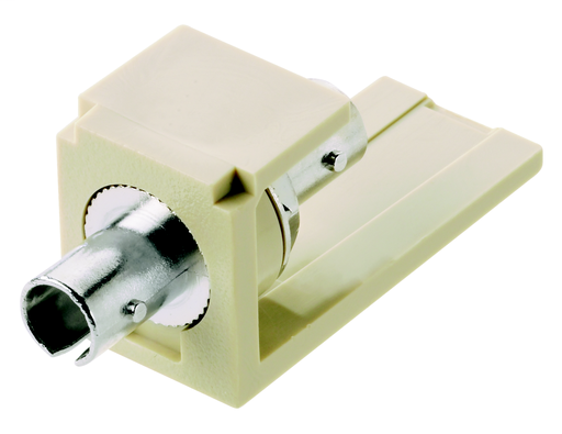 Mayer-Module supplied with one ST multimode fiber optic adapter with phosphor bronze split sleeve.-1