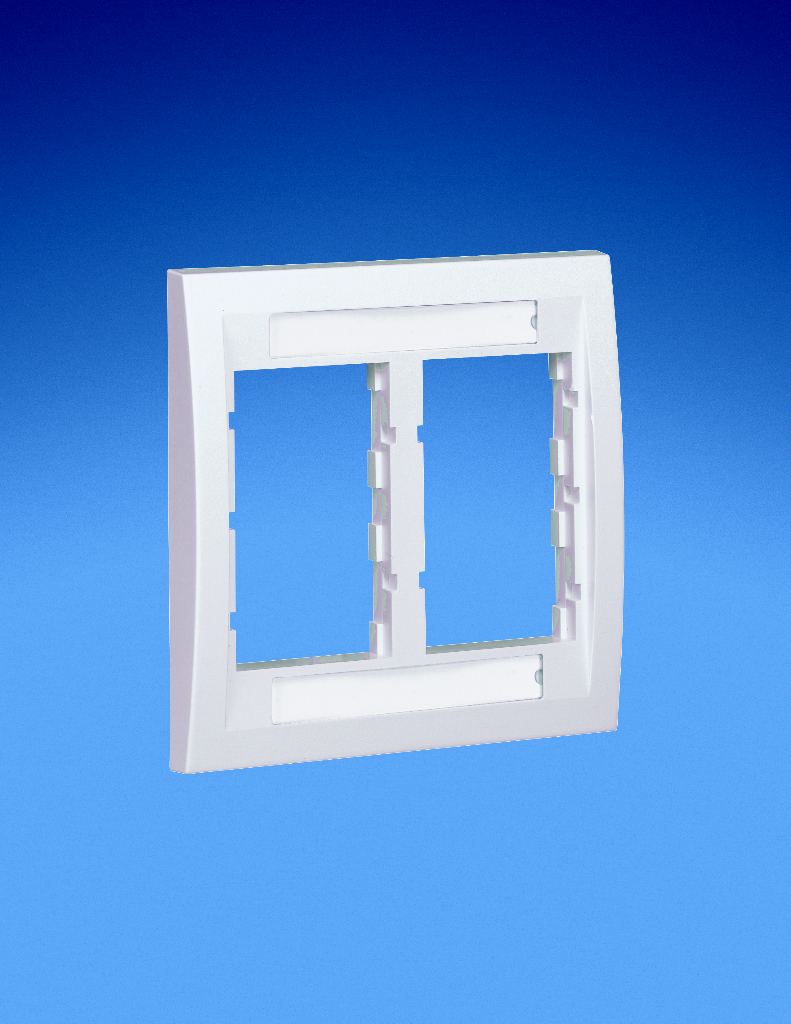 Mayer-Faceplate Frame, Double Gang, Executive, Electric Ivory-1