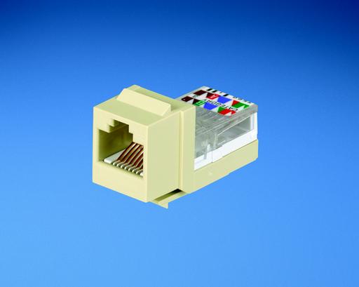 Mayer-NK 8-position/8-wire, Cat 3 leadframe jack module - White-1