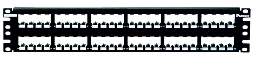 Panduit CP48BLY Patch Panel, 48 Port, Modular, All Metal