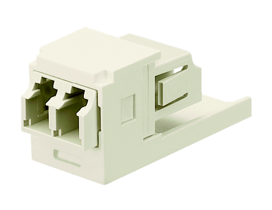 Dupl LC Sr./Sr. Fiber Adapter (EI) With Module (IG) Phos
