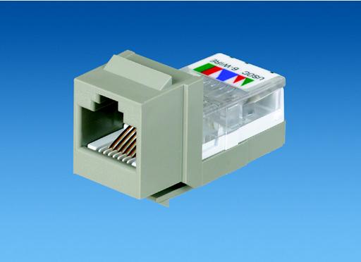 Mayer-NK 6-position/6-wire, USOC, Cat 3 leadframe jack module - Electric Ivory-1