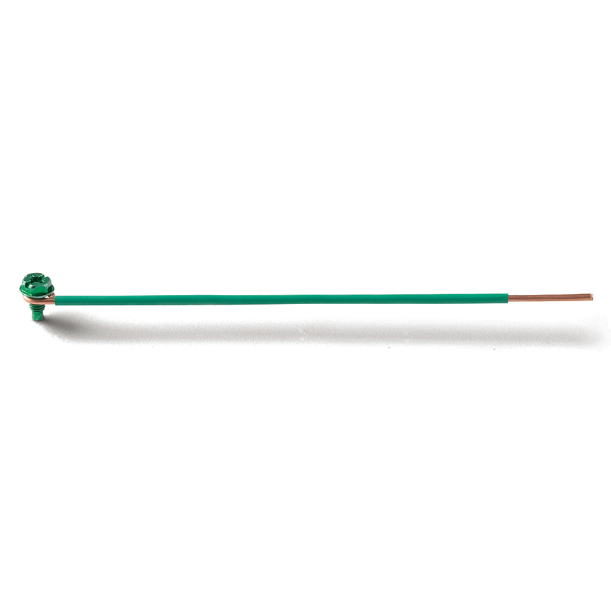 PAND SGPL12-7S-L 12 AWG SOLID 6.5IN PIGTAILS GSH SCREW STRIPPED 1IN