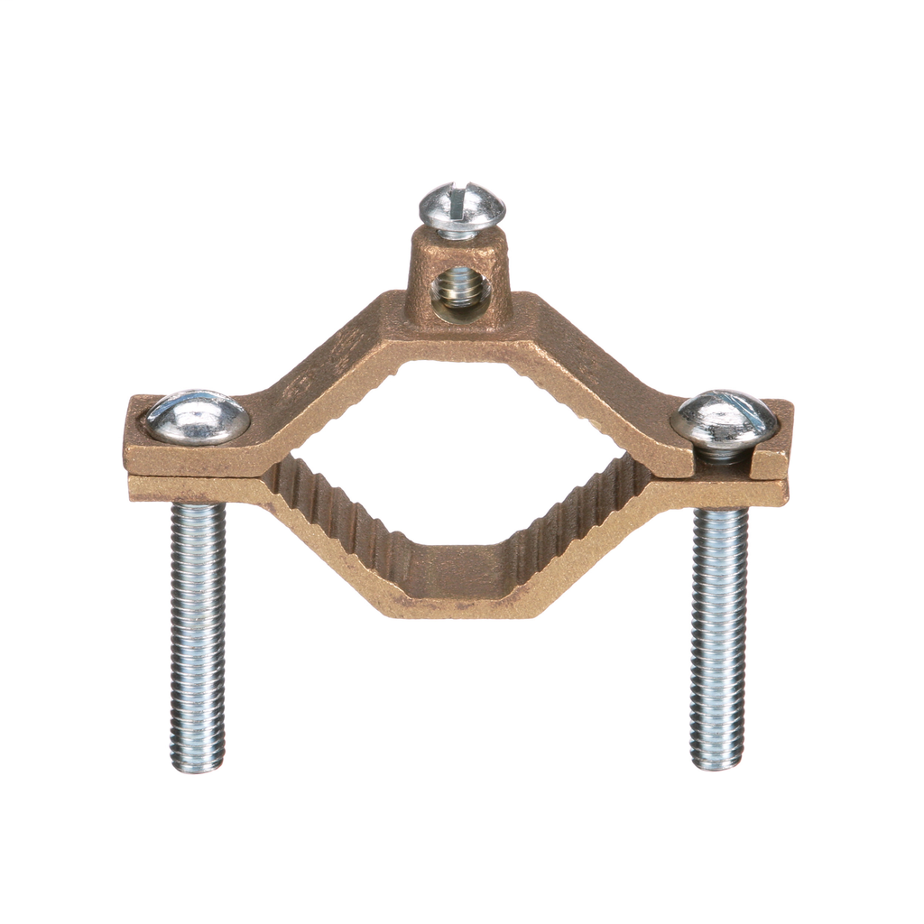PAND GPC2-2-L BRONZE GROUND PIPE CLAMP, WATER PIPE 1-1