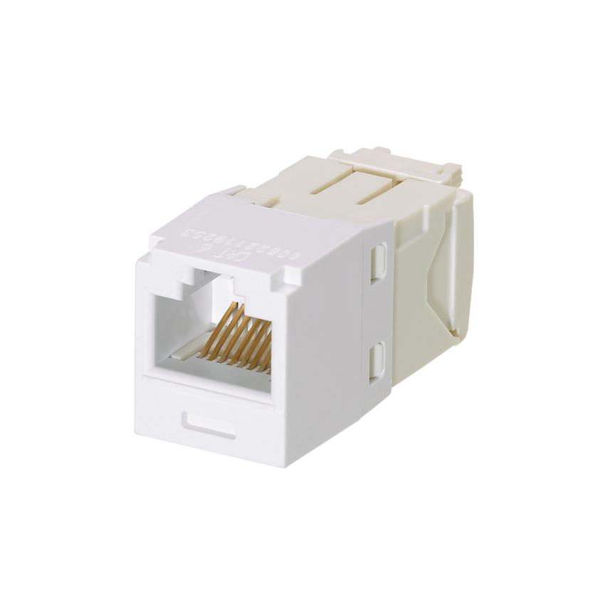 Mini-Com Module, Category 6, Unshielded Twisted Pair (UTP), 8 Port 8 Wire, Universal, White, TG Style, UTP Jack Module