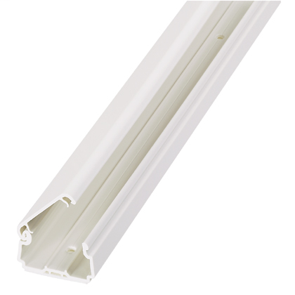 Pan-Way LDPH10 Hinged, 2-piece Power Rated Raceway with Adhesive, Length 8 Feet, Color Electric Ivory, Material PVC, Packaging 8
