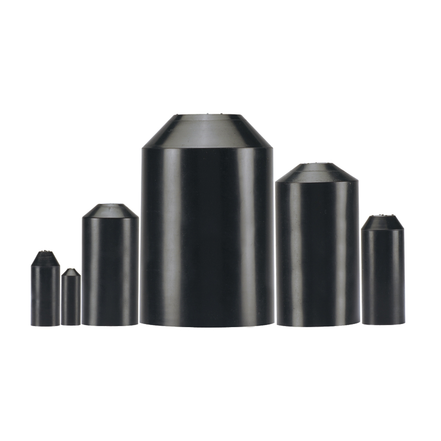Heat Shrink Thick Wall Adhesive End Cap, 0.5 Inch (12 mm) Size, Product Type WET-SHRINK Heat Shrink End Cap Adhesive Lined, Material Cross-linked Polyolefin, Color Black, Temperature Range -67 to 221 Degrees Fahrenheit (-55 to 105 Degrees Celsius)