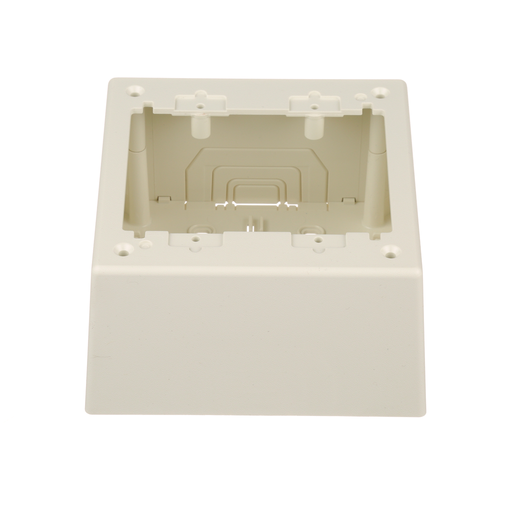 Double Gang Power Rated 2-piece Deep Outlet Box, Off White