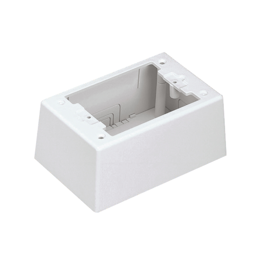 Single Gang Power Rated 2-piece Intermediate Outlet Box, Electric Ivory