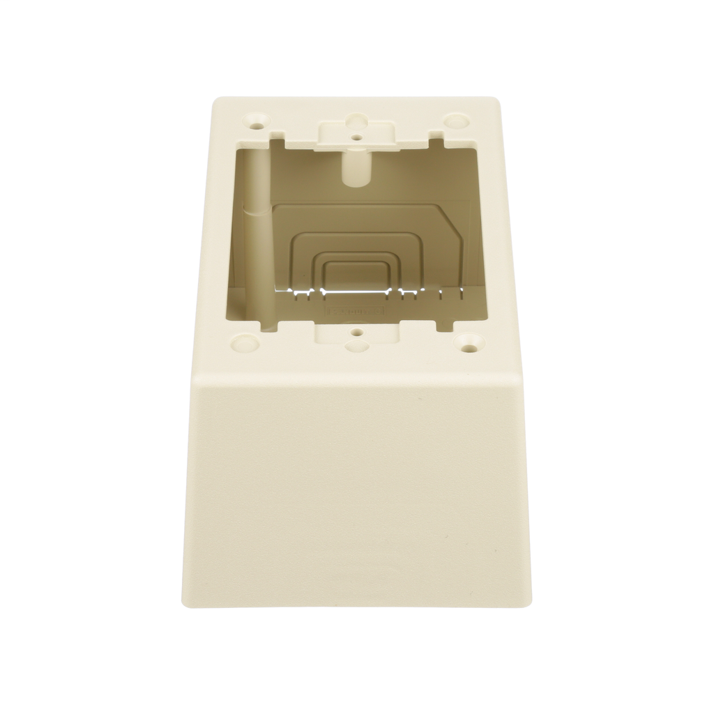 Single Gang Power Rated 2-piece Deep Outlet Box, Electric Ivory