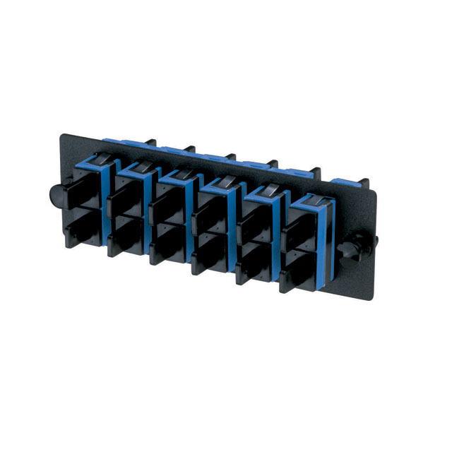 SC Fiber Optic Adapter Panel With Six SC Duplex Adapters Blue With Ziconia Ceramic Split Sleeves