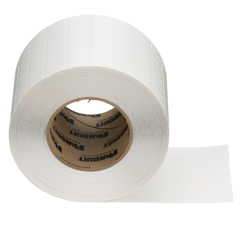Thermal Transfer, Non-Laminated Label, Vinyl Cloth, 0.50 Inch Wide x 0.75 Inch High, White, 3-Inch Core