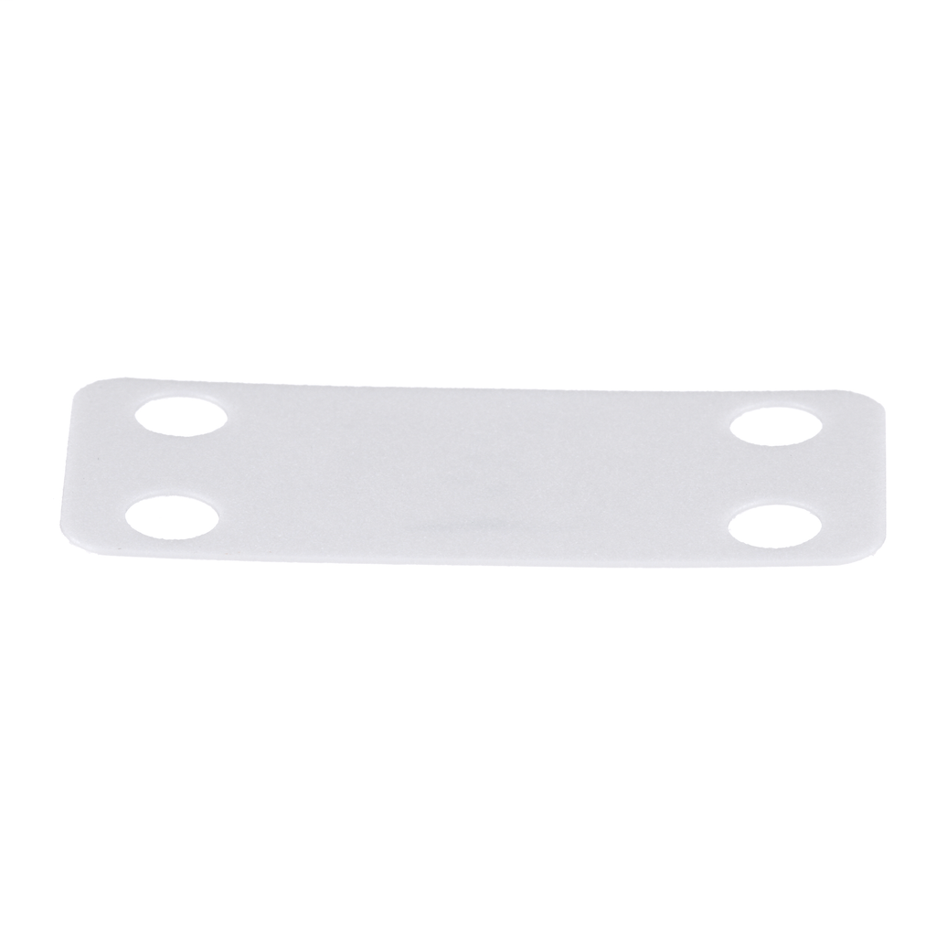 Marker Plate, Material Nylon 6.6, Color White, Environment Indoor, Length 1.75 Inches, Width 0.75 Inch, Mounting Method - Cable Ties, Use With Miniature through Standard Cable Ties