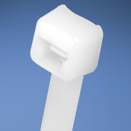 Pan-Ty® locking tie, miniature cross section, 3.9 (99mm) length, nylon 6.6, natural, bulk package.