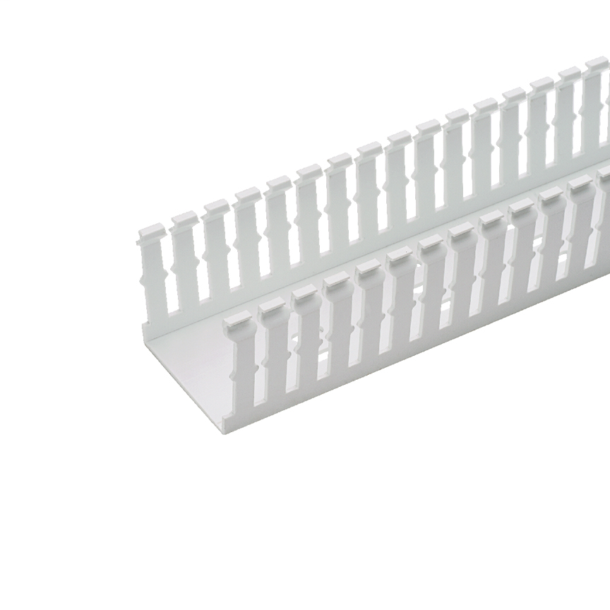 Panduct® type F narrow slot wiring duct, 2 W x 2 H, 6' length, PVC, white.
