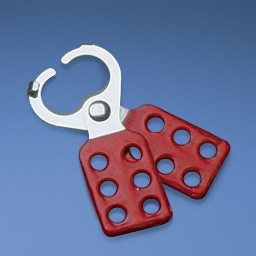 "Hasp with 1.50"" (38.1mm) diameter jaw and overlapping tabs."