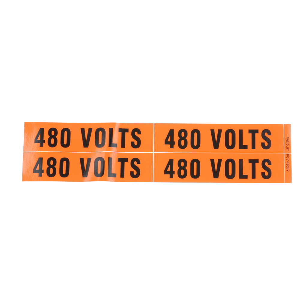 PANDUIT PCV-480BY 480 VOLTS MARKER CARD (PRICED PER CARD)