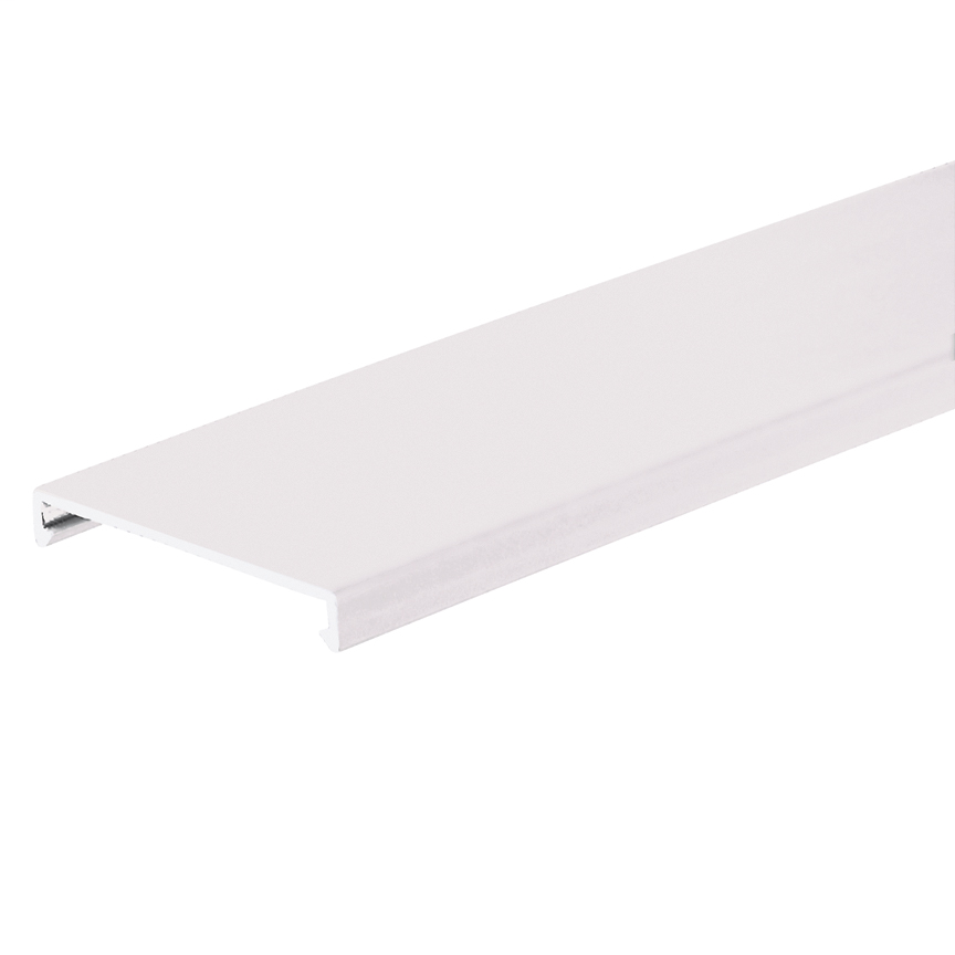 Duct cover, 4 W x 6' length, PVC, white.