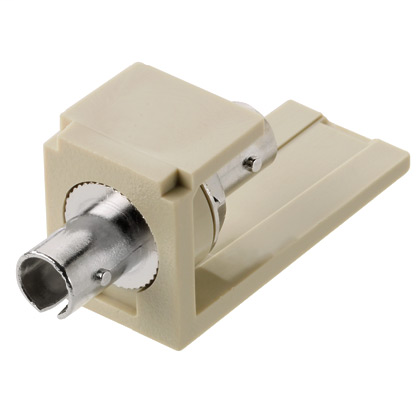 PANDUIT Module supplied with one ST multimode fiber optic adapter with phosphor bronze split sleeve, Blue.