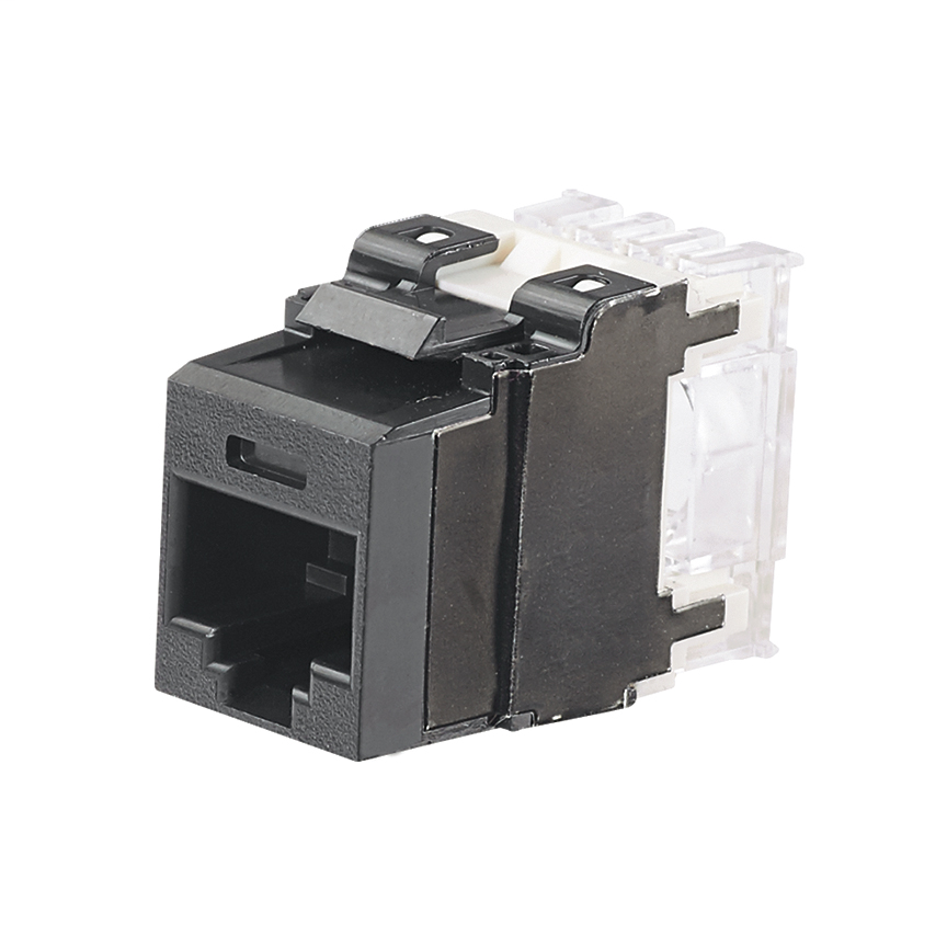 PANDUIT Category 6A, 8-position, 8-wire, keystone punchdown jack modules, black.