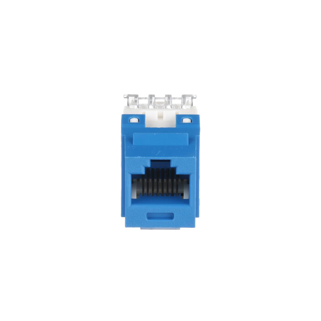 PANDUIT Bulk pack of 25, Category 6, 8-position, 8-wire, keystone punchdown jack modules. Blue.