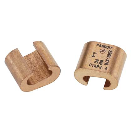 PANDUIT C-Type copper compression taps, type CTAP, #2 AWG Run, #4 AWG Tap, 25pc.