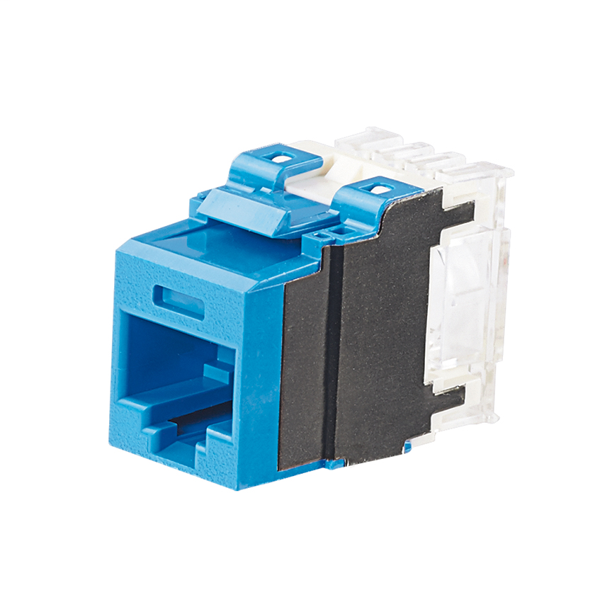 PANDUIT Category 6A, 8-position, 8-wire, keystone punchdown jack modules, blue.