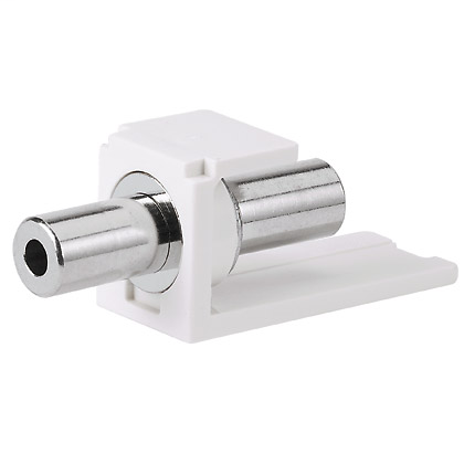 PANDUIT 3.5mm stereo coupler module, Off White.