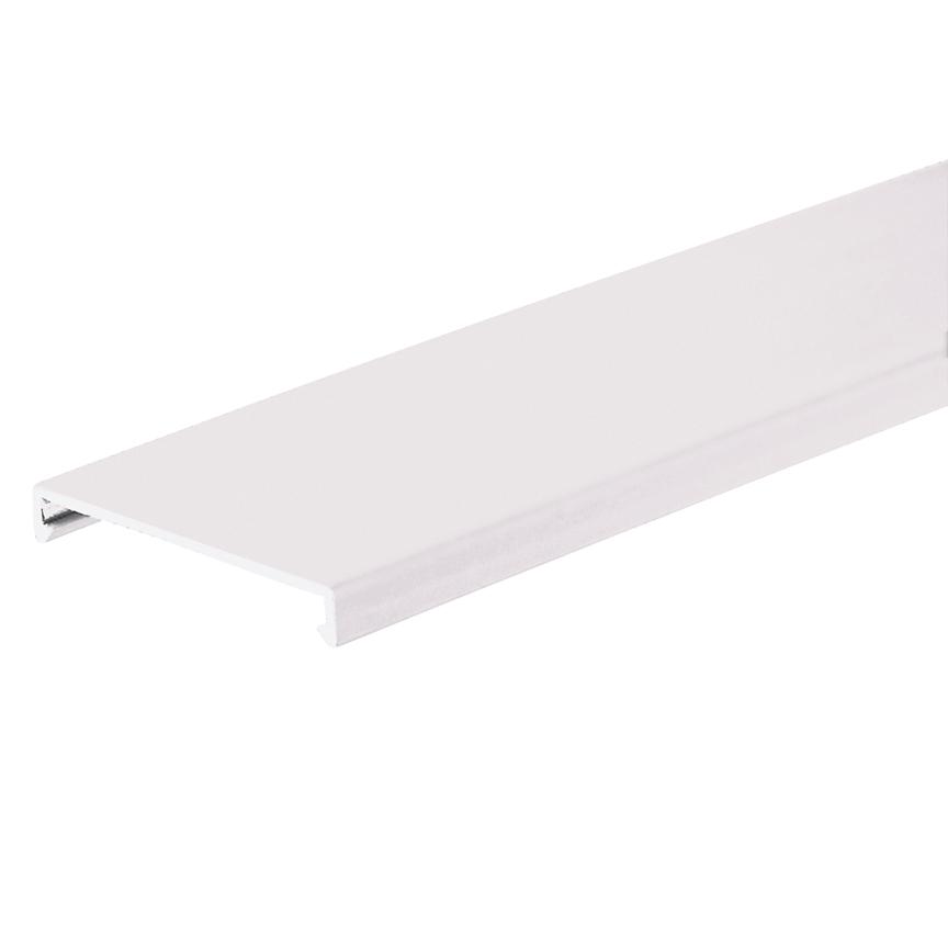 PANDUIT Duct cover, .75 W x 6' length, PVC, white.