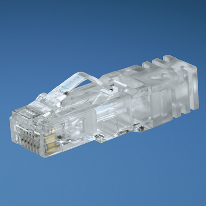 PANDUIT 8-position, 8-wire modular plug, for use with 24 AWG, Category 6, UTP copper cable,100 pk.