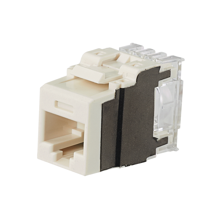 PANDUIT Category 6A, 8-position, 8-wire, keystone punchdown jack modules, international gray.