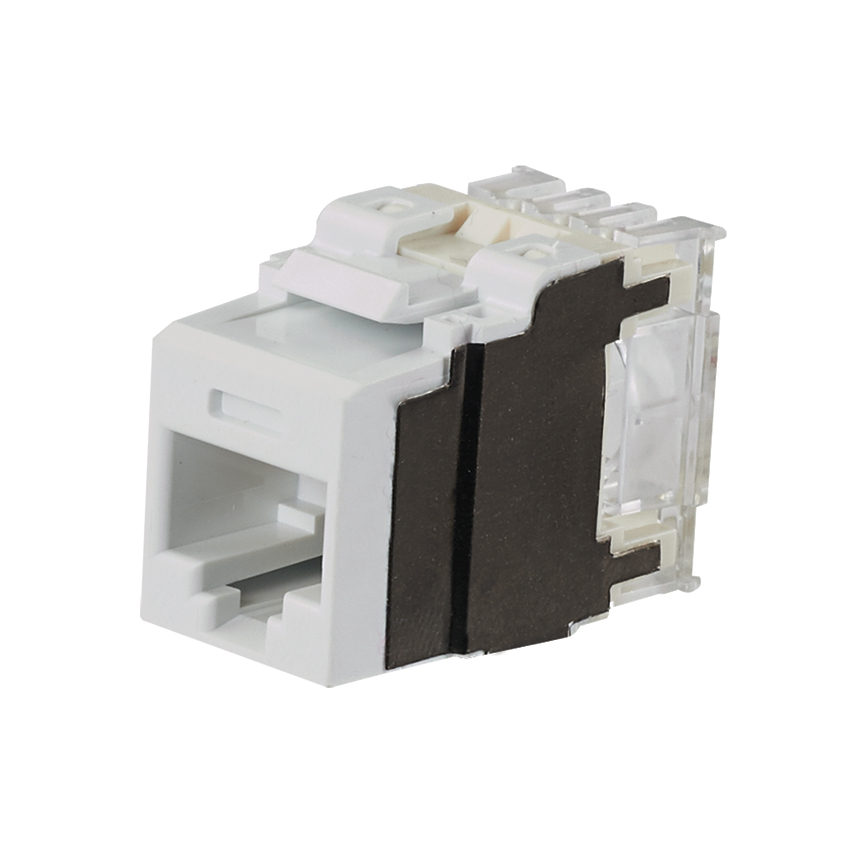 PANDUIT Category 6A, 8-position, 8-wire, keystone punchdown jack modules, white.