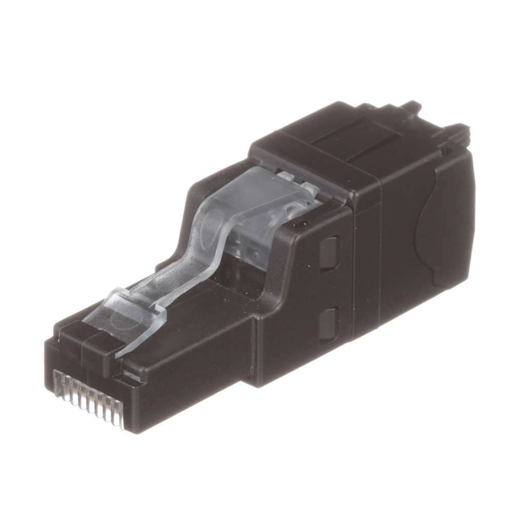 PANDUIT TX6A, Category 6A UTP Field Term RJ45 Plug is a simple-to-attach plug for field termination of 4-pair unshielded twisted pair cable. Provides Category 6A,Category 6 and 5e systems.